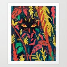 Entre la naturaleza Art Print