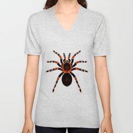Spider Red And Black Unisex V-Neck