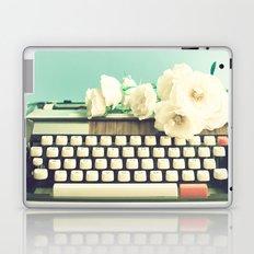 Typewriter and roses on mint  Laptop & iPad Skin