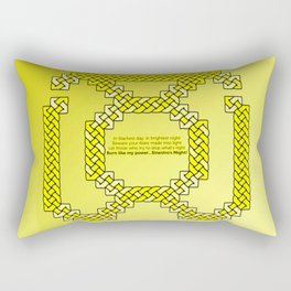 Yellow Lantern Symbol & Oath Rectangular Pillow