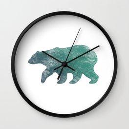 Bear vintage blue Wall Clock