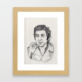 Serge Gainsbourg Framed Art Print