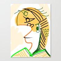 actor Canvas Prints featuring actor 3940 by Matt Vaillette