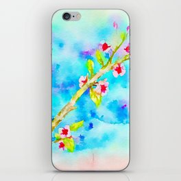Blossom cherry tree iPhone Skin