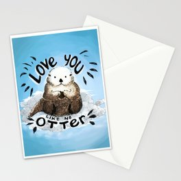 love you like no otter Stationery Cards