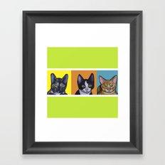 Three kittens Framed Art Print