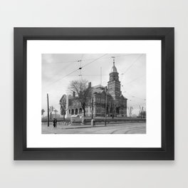 The Knox County Courthouse in Knoxville, Tennessee Framed Art Print