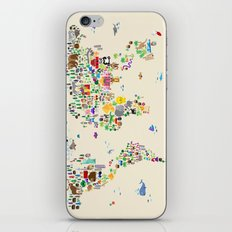 Animal Map of the World iPhone Skin