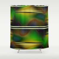 forrest Shower Curtains featuring Reign Forrest by Del Gaizo