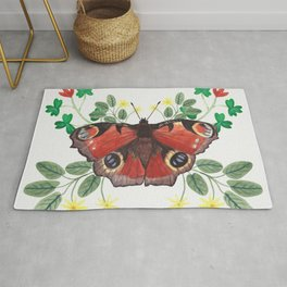 Peacock Butterfly Rug
