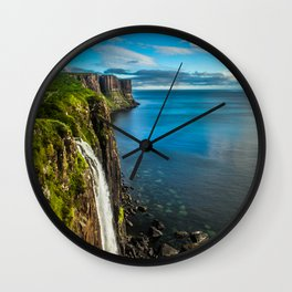 Skye Falls Wall Clock