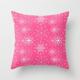 Dainties Bold Pink Throw Pillow