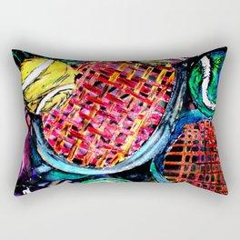 Wild Tennis artwork Rectangular Pillow