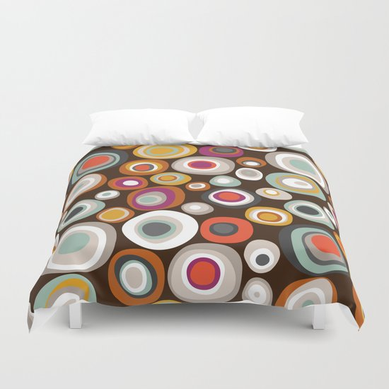 veneto boho spot chocolate Duvet Cover