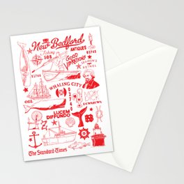 New Bedford Massachusetts Print Stationery Cards