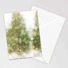 Snow Falling On Pines Stationery Cards