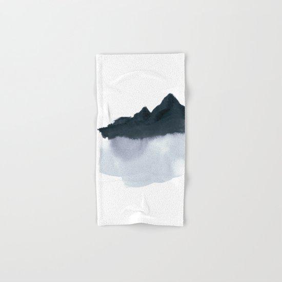 mountain scape minimal Hand & Bath Towel