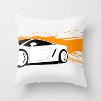lamborghini Throw Pillows featuring Lamborghini Gallardo Vector   by Kaivan Askari