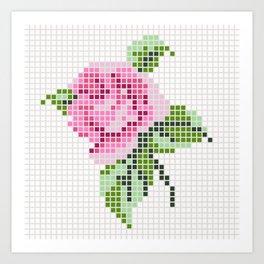 Shabby Chic Pink Rose Art Print