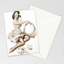 Out of This World by Gil Elvgren Pin Up Girl Stationery Cards