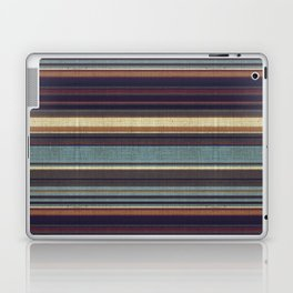 """Blue lines burlap"" Laptop & iPad Skin"