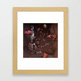 Gravity inside a Coffee Box Framed Art Print