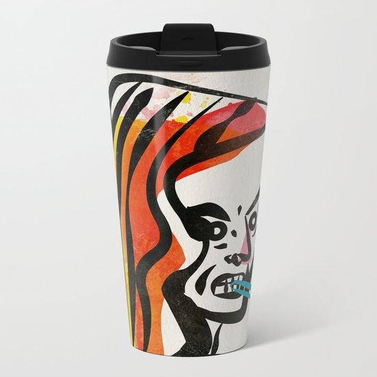 girl with a cigarette Metal Travel Mug