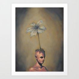 Man with Flower Art Print
