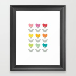 Heart petals Framed Art Print