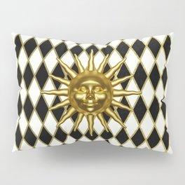 Golden Sun - Black & Gold Diamonds Pillow Sham
