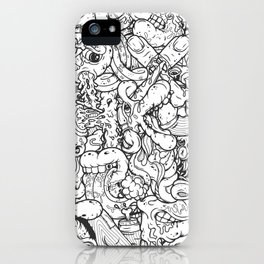 Alphabetcha Collage b&w iPhone Case