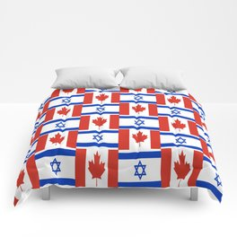 Mix of flag : canada and israel Comforters