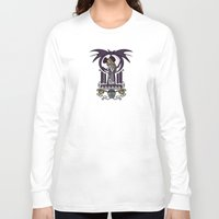 nouveau Long Sleeve T-shirts featuring Nightmare Nouveau by Karen Hallion Illustrations