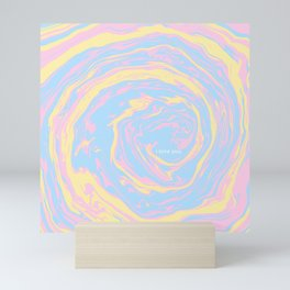 swirl of thoughts (hidden message) Mini Art Print