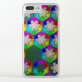 Koch Snowstorm Clear iPhone Case