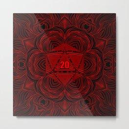 Natural 20 Mandala Backstabbing Rogue Metal Print