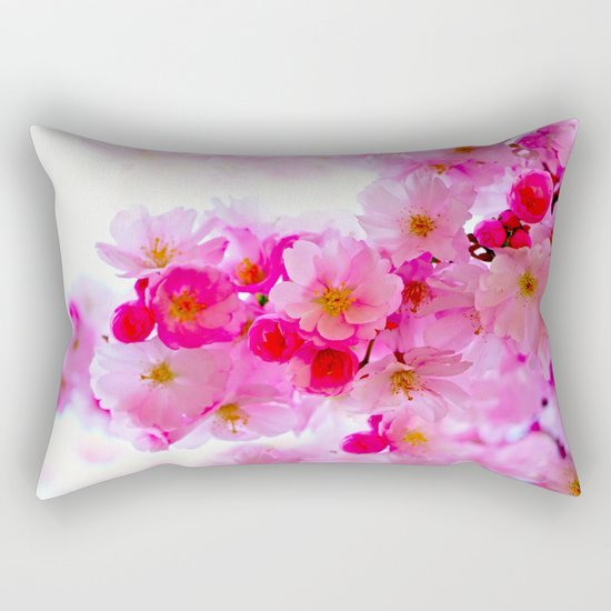 PINK CHERRY BLOSSOMS Rectangular Pillow