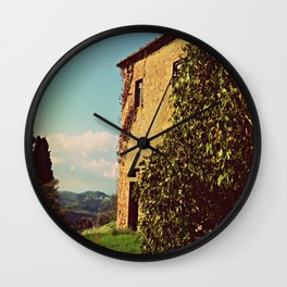 Tuscany Italy Countryside With Villa Wall Clock