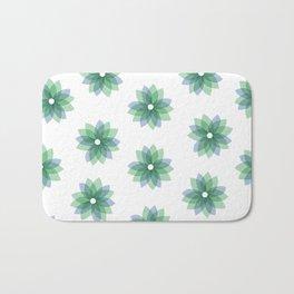 Geo Spring Flowers 01 Bath Mat
