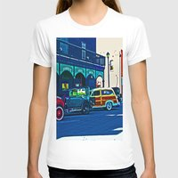 cars T-shirts featuring Vintage Cars by Joseph Coulombe