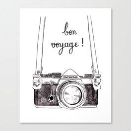Bon Voyage - Leaving card / Travel / Around the world Canvas Print