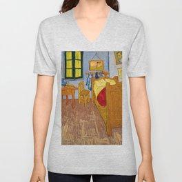 Vincent Van Gogh - Vincent's Bedroom in Arles Unisex V-Neck