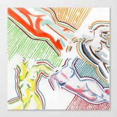 nude figures Canvas Print