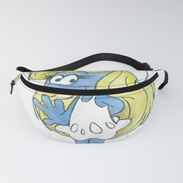 Watercolour Smurfette Sketch Fanny Pack