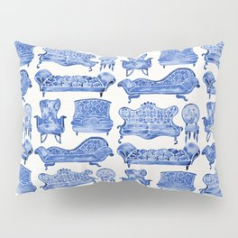 Victorian Lounge – Navy Palette Pillow Sham