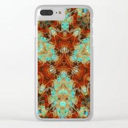 Scifi Rustic Geometric Clear iPhone Case