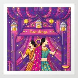 Indian Wedding Sangeet Dance Art Print