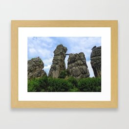 The Externsteine, Teutoburg Forest Framed Art Print