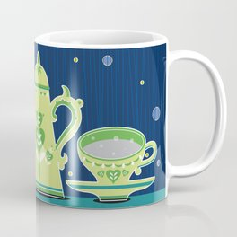Retro coffee for one illustration Coffee Mug