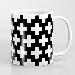 Swiss Cross W&B Coffee Mug